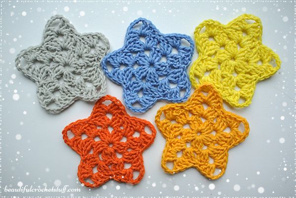 These adorable granny stars can help you to add sparkles to your holiday. You can use this pattern for making garlands, snowflakes, doilies, tablecloth or mix it withCrochet Christmas Tree ...