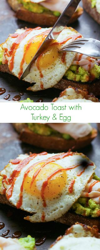 Avocado Toast with Turkey and Egg | Notey
