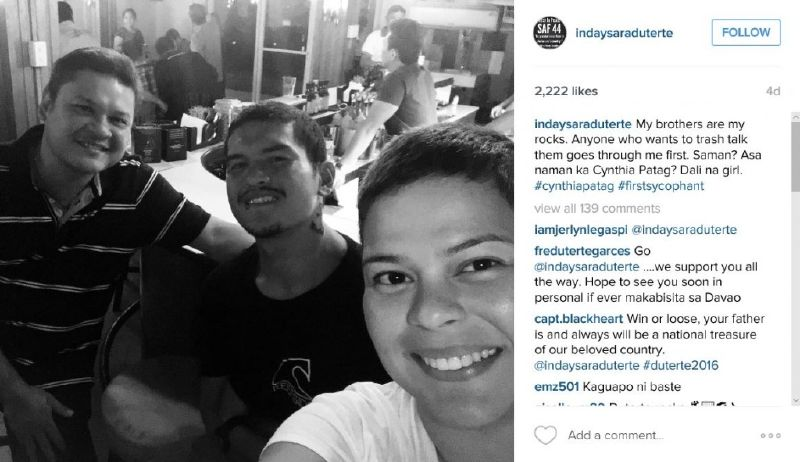 """Davao City Mayor Rodrigo Duterte's daughter Sara """"Inday Sara"""" Duterte-Carpio is known for her active presence on social media. Inday Sara is also known to be tough just like her father. Recently, ..."""